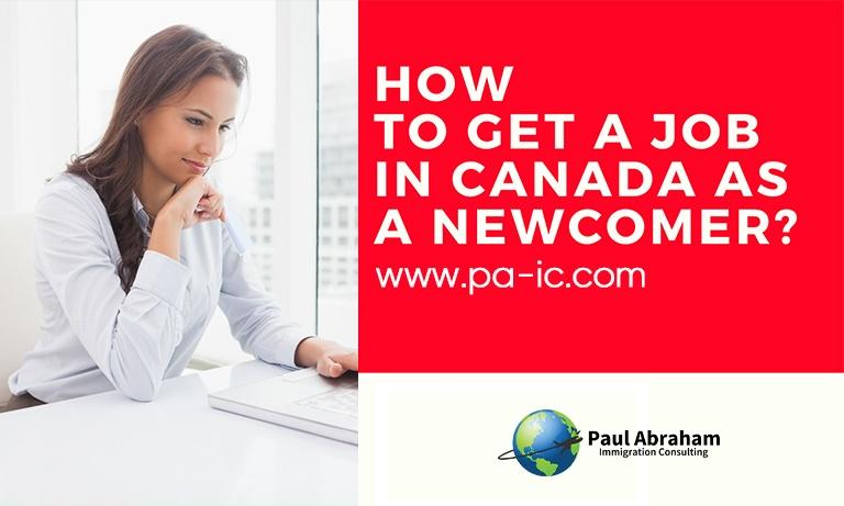 get a job in canada